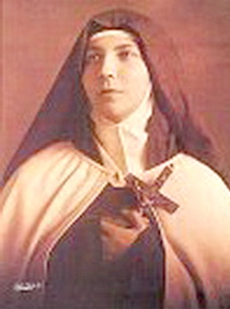 Sr. Teresa of the Andes dressed as a Carmelite for her pre-entrance photo for link page